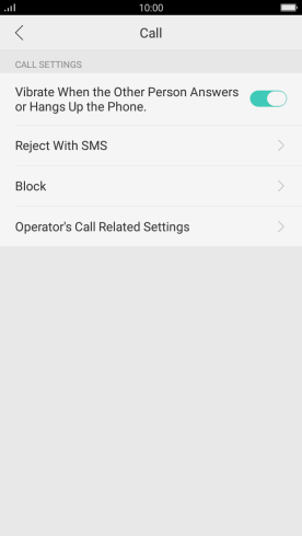 Turning call waiting on your OPPO A57 Android 6 0 1 on or off