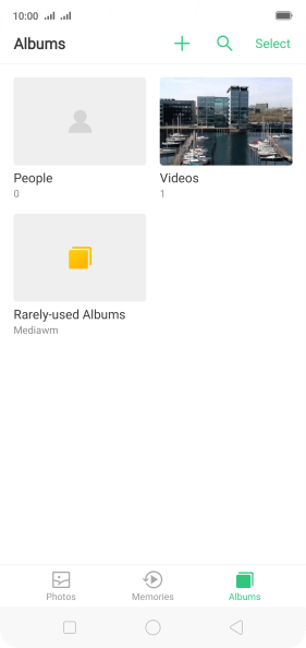 Press Albums and go to the required folder.