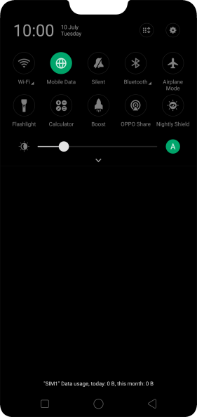 Press the sound mode icon to turn silent mode on or off.