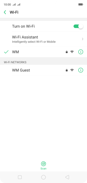Press Wi-Fi Assistant.