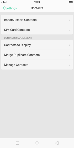 Press SIM Card Contacts.