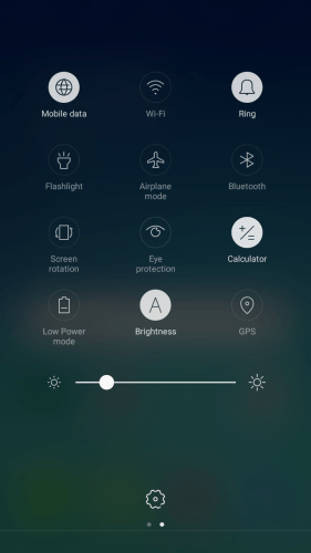 Press Airplane mode to turn the function on or off.