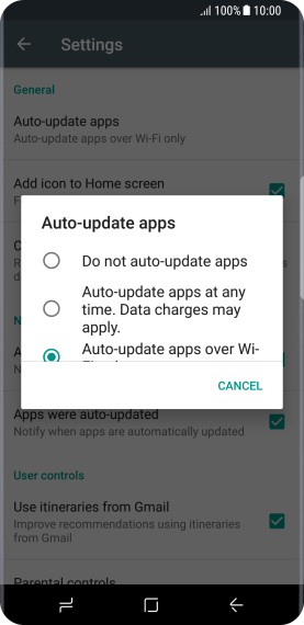Press Do not auto-update apps to turn off the function.
