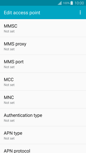 Press MMS proxy.
