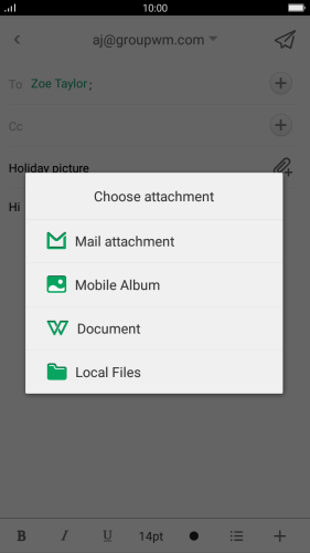 Press Local Files and go to the required folder.