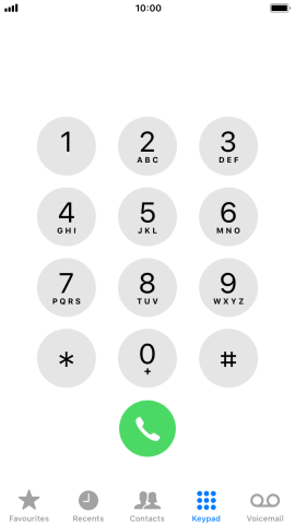 Key in **61*141*20# and press the call icon.